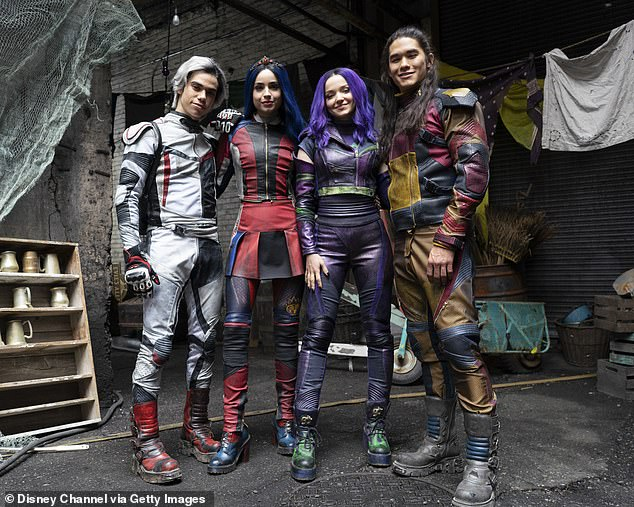 Back for more: She'll return to her character Mal in Disney's Descendants for the animated film The Royal Wedding, which comes out this summer; seen in 2018