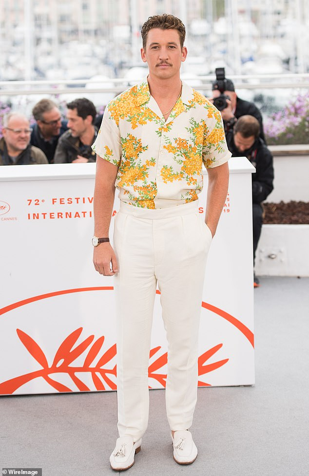 Leading man: Miles Teller has been confirmed to be starring in the upcoming miniseries The Offer, which is based on the production of The Godfather; he is pictured at the72nd annual Cannes Film Festival in 2019