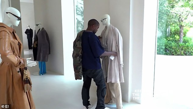 Perfectionist: Before Kris' arrival now estranged husband Kanye West made his first appearances on the show to help with finishing touches on the display