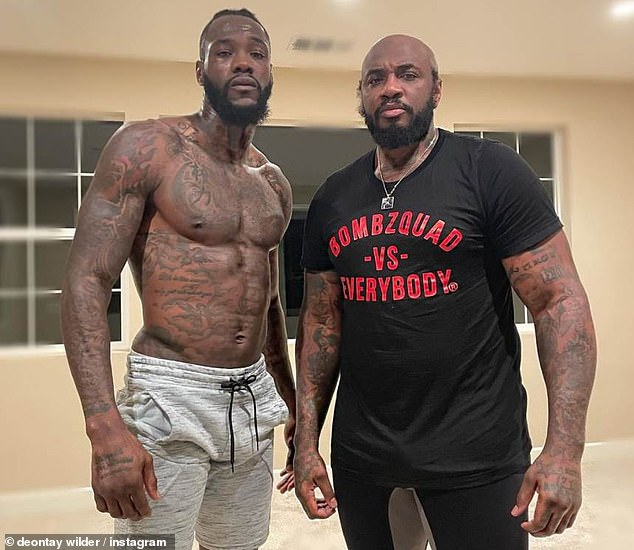 Wilder is working with new coach Malik Scott (right) and training 'harder than ever before'
