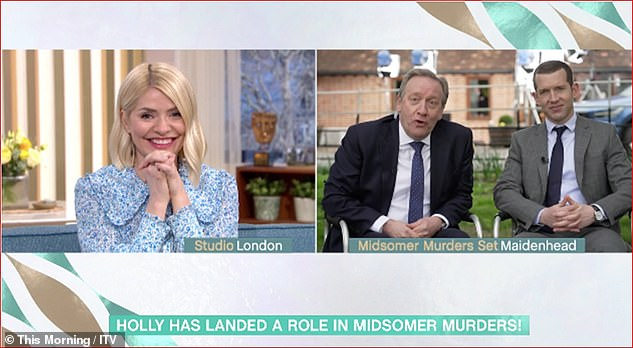 Offer:In March, Holly was left surprised by Midsomer Murders stars Neil Dudgeon and Nick Hendrix during an appearance on This Morning when they asked if she wanted to be part of the show