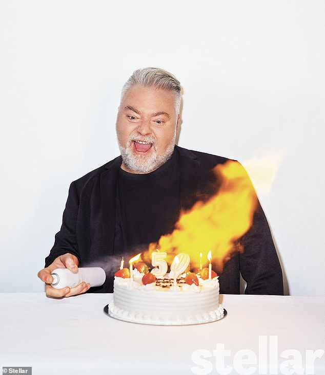 Birthday boy:Kyle Sandilands (pictured) has shared some of his secrets in a candid interview. Speaking to this week's Stellar Magazine, the shock jock, 49, also revealed how he will celebrate his upcoming 50th birthday on June 10