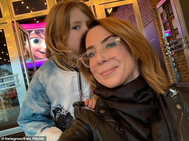 Sweet:'Bubba and Mumma movie date,' the former Home And Away star proudly captioned a picture of the two attending the animated adventure film, Spirit Untamed