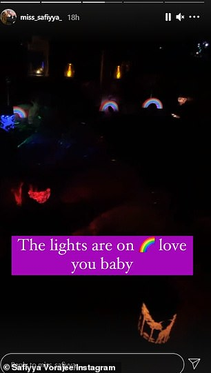 For her: There were also electric candles and spinning children's night lights, as well as a lantern with Ashley, Safiyya and Azaylia printed on it