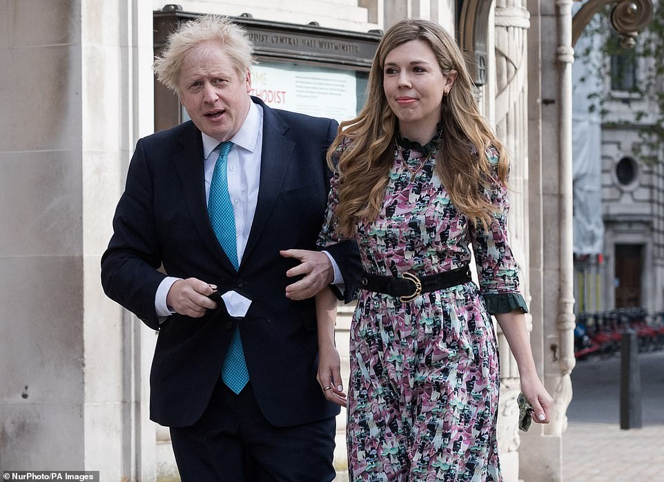 Boris Johnson married girlfriend Carrie Symonds in a secret ceremony yesterday morning, the Mail on Sunday can reveal