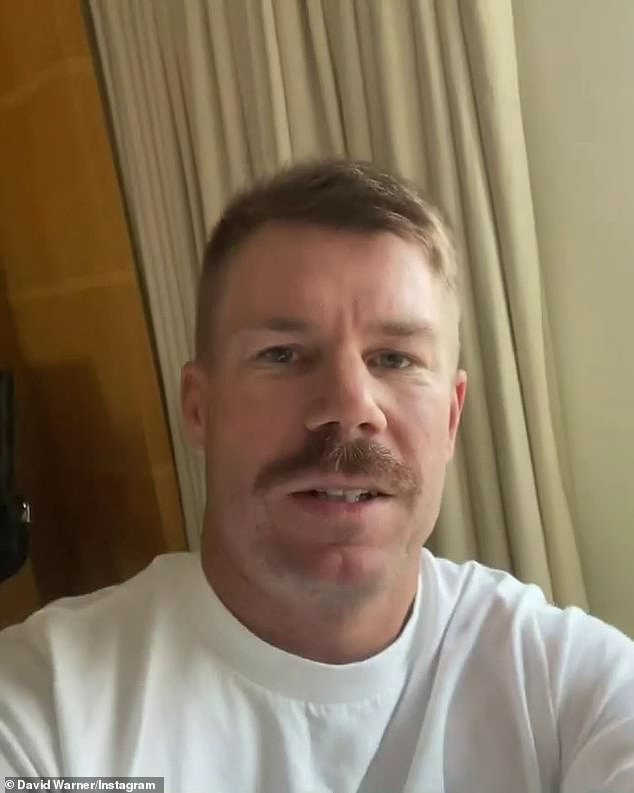 'Can't wait to see my girls again': David Warner, 34, shared a sweet tribute to his family as he completed his final day of quarantine on Sunday... after returning home from Covid-ravaged India