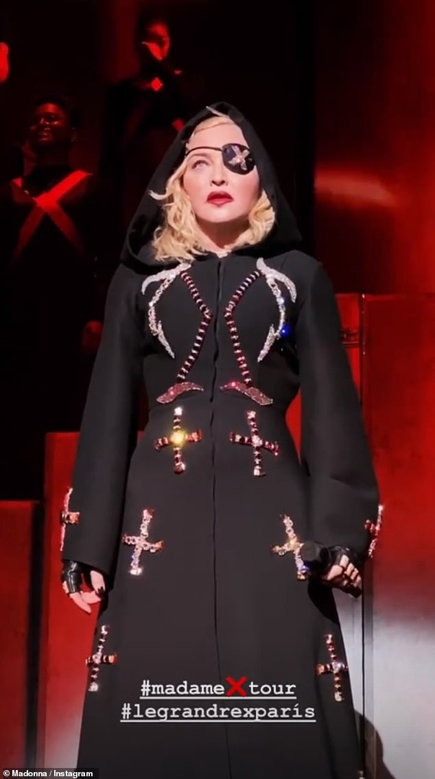 Inside look: The film, slated to drop on Netflix, features extensive footage from the tour and behind-the-scenes clips of the singer-songwriter as her Madame X alter ego