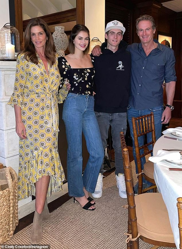 Family matters: Along with Kaia, the couple also have a 21-year-old son Preston, who has also gotten into the modeling industry beginning when he was a teenager