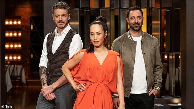 MasterChef Australia continues on Channel Ten, Sunday, 7.30pm. Pictured: MasterChef judges Jock Zonfrillo, Melissa Leong, Andy Allen