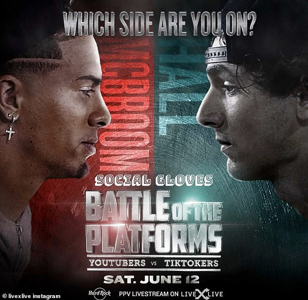 In the ring:Social Gloves: Battle Of The Platforms takes place Saturday, June 12th and is available for premium streaming via LiveXLive