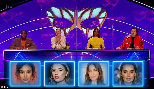 Success:Jonathan Ross was the only judge to correctly guess her identity, as Oti Mabuse picked Lisa Snowdon, Mo Gilligan guessed Maya Jama, and Davina McCall picked Dani Dyer