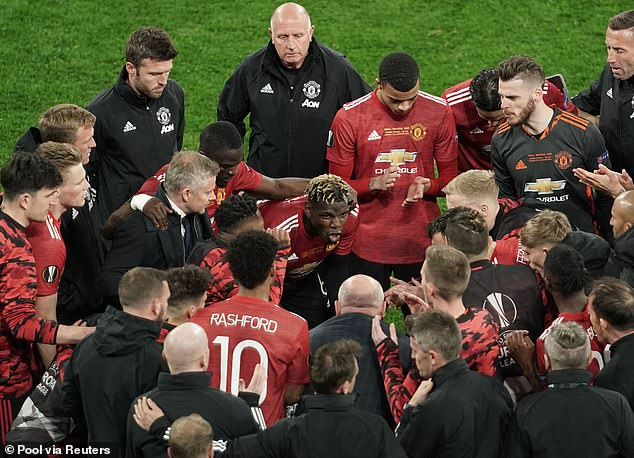 James claims Paul Pogba (middle) made De Gea (second right) more nervous in a team-talk
