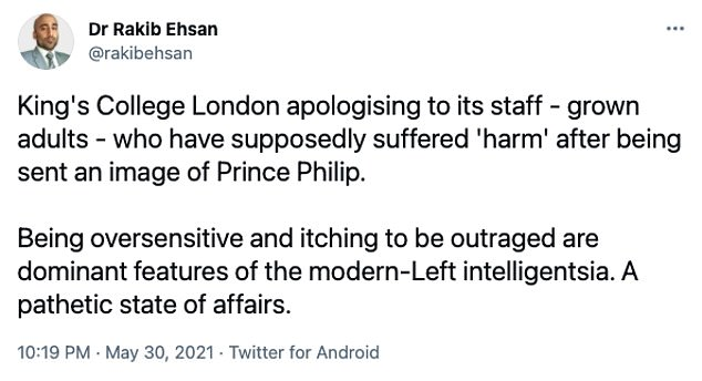 The apology by King's College has since caused its own wave of backlash, including from free speech campaigners and MPs