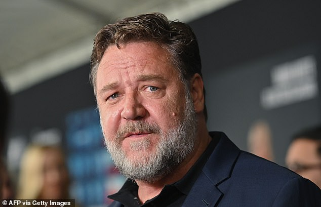Memorial: Hollywood actor Russell Crowe will host a memorial for his late father John Alexander Crowe on Saturday, June 5. Russell, 57, is pictured in June 2019