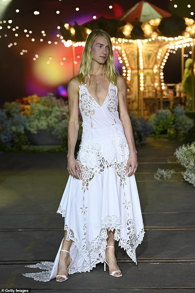 Star! Christian Wilkins (pictured) proved to be one of the biggest stars of Afterpay Australian Fashion Week 2021 on Monday
