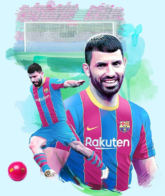 Sergio Aguero will officially be unveiled as a Barcelona player on Monday after agreeing terms