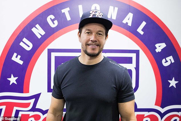 A patriot: Wahlberg seen in a cap and T-shirt earlier this year in Australia