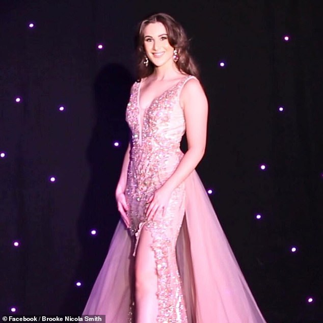 Pictured: Brooke at a beauty pageant. The heiress admits her father does the food shop at home and that she has no idea how much it costs per week