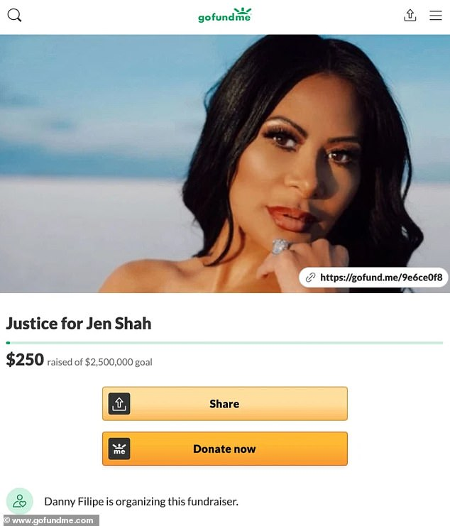 Oh no: The 47-year-old reality star was slammed by fans and called 'disgusting' after her cousin, Danny Filipe, organized a $2.5M crowdfunding campaign to cover Jen's legal defense ahead of her October trial