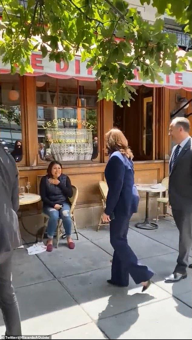 Vice President Kamala Harris and her husband Doug Emhoff joined the foursome