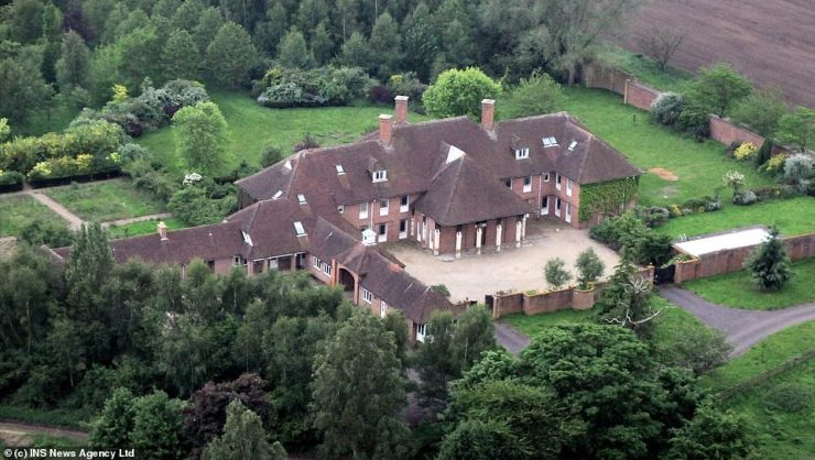 Then: Sunninghill House, on the edge of Windsor Great Park near to Ascot, which was sold by Prince Andrew in 2007