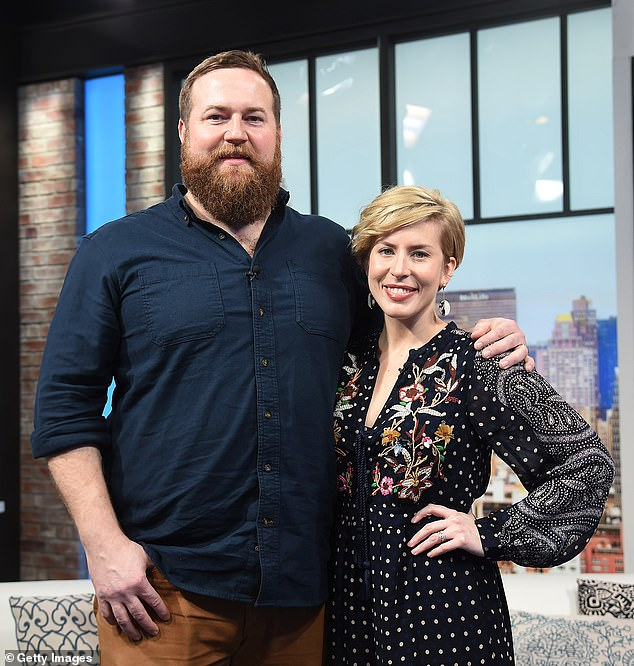 TV debut! Home Town stars Erin and Ben Napier revealed that their newborn daughter Mae's name was actually revealed earlier this year on This Is Us by good friend Chris Sullivan who stars on the show; pictured January 2020