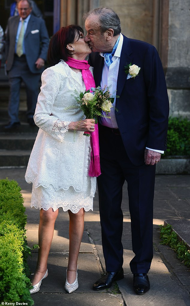 While Boris and Carrie were saying 'I do' at Westminster Cathedral on Saturday, broadcaster and charity campaigner Marjorie Wallace was exchanging vows with TV shopping tycoon John Mills in a Venetian-style ceremony up the road