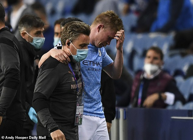 The Manchester City star left the field in Porto in tears in their Champions League final loss