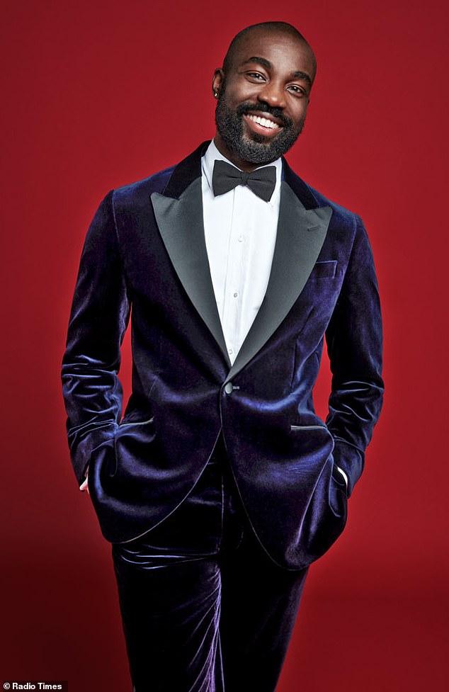 Sleek: I May Destroy You starPaapa Essiedu was sporting a stylish velvet tuxedo