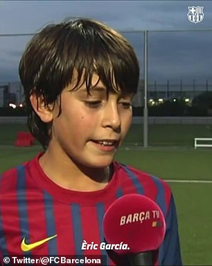 Garcia rose through the ranks of Barcelona's La Masia academy