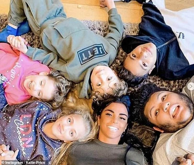 Family: The reality star already has Junior, 15, and Princess, 13, with ex-husband Peter Andre, 48, Jett, seven, and Bunny, six, with former spouse Kieran Hayler, 33, and raises eldest child Harvey, 18, without his biological father Dwight Yorke, 49