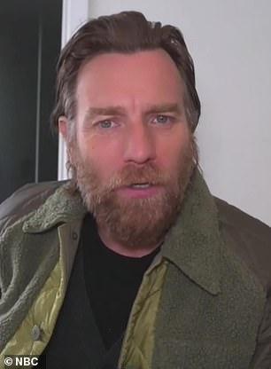 Ewan is seen here in May as he talks Star Wars