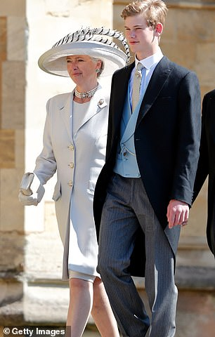 Tiggy has also remained close to both the royals and attended Harry's wedding with her son Tom (right) who is also Harry's godson