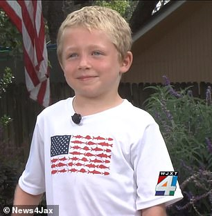 Chase Poust, 7, helped save his dad and little sister who were stuck in the water