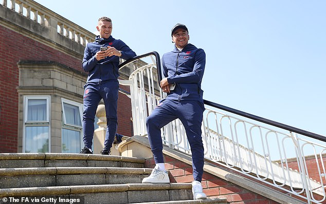 Jesse Lingard (R) ended the season strongly but should have no complaints about missing out