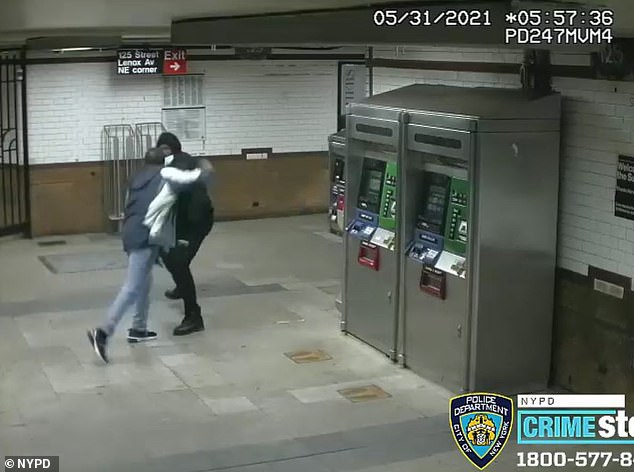 On Monday, a man was attacked and stabbed with a broken umbrella handle at the 125th Street subway station in Harlem