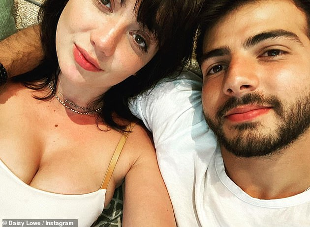 Smitten:Daisy and boyfriend Jordan's romance was first revealed when they were spotted putting on a PDA-fest in a north London park in July