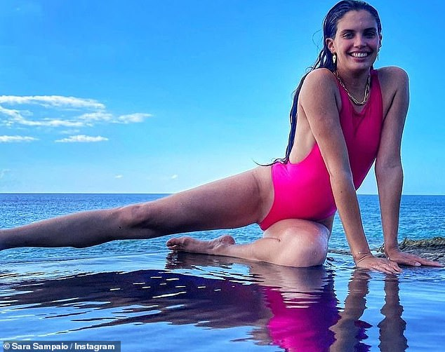 Jet setter:Sara is recently back in Los Angeles after sizzling up a storm for Instagram during her vacation to the celebrity hot spot Turks And Caicos
