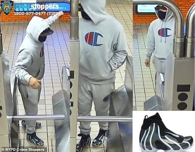 Police highlighted the suspects' expensive footwear in a news release seeking information that could lead to their capture. One of the suspects was wearing Nike Flightposite Topaz Mist sneakers, which run anywhere from $200-$299