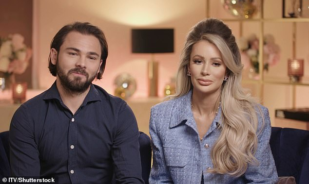 Happy couple: Olivia and footballer boyfriend Bradley Dack, 27 have moved into a new home