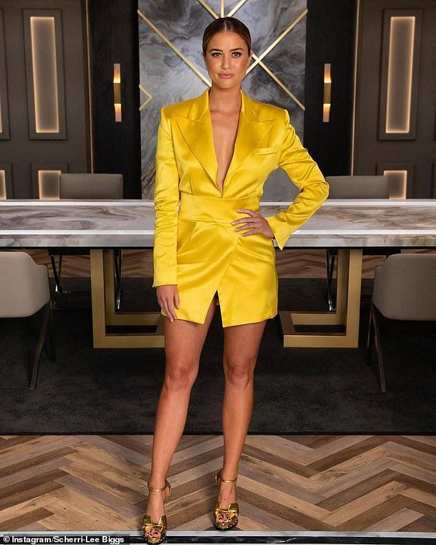 Golden girl:Scherri-Lee is now back in the spotlight thanks to her current stint on the Celebrity Apprentice