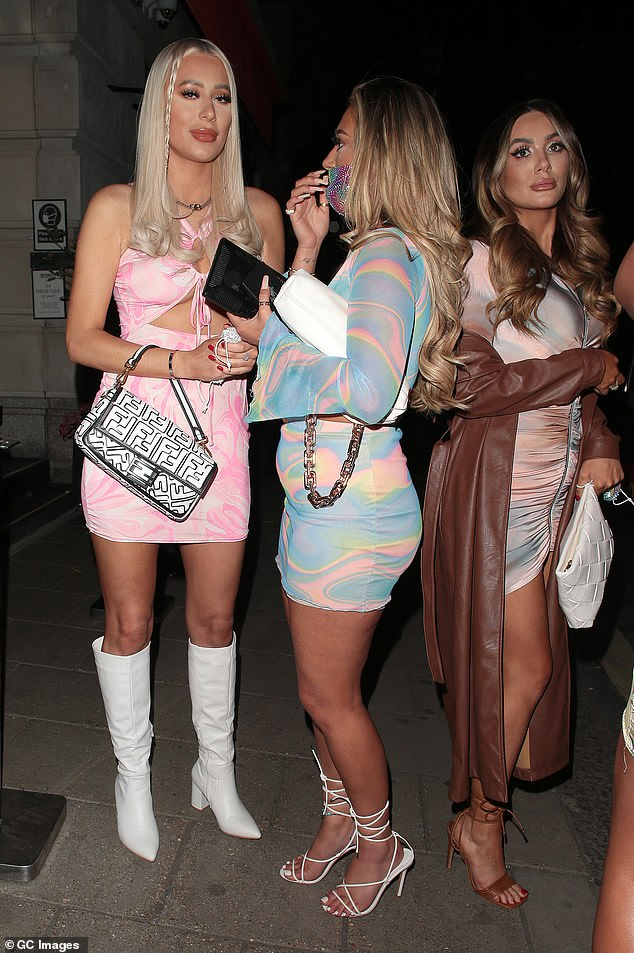Stepping out: The reality stars were seen stepping out after their meal