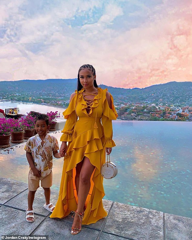History repeating itself? Tristan famously fathered his four-year-old son Prince Oliver (L, pictured May 11) with prior babymama Jordan Craig (R) while he was dating the 36-year-old Good American co-founder
