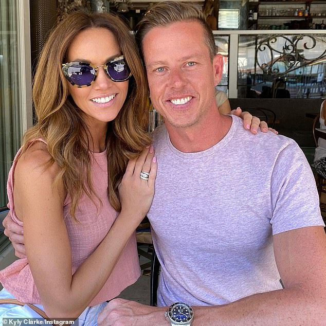Splitsville: Kyly, meanwhile, enjoyed a fling with V8 Supercars champion James Courtney