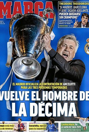 Marca ran with:'The man who brought La Decima returns'