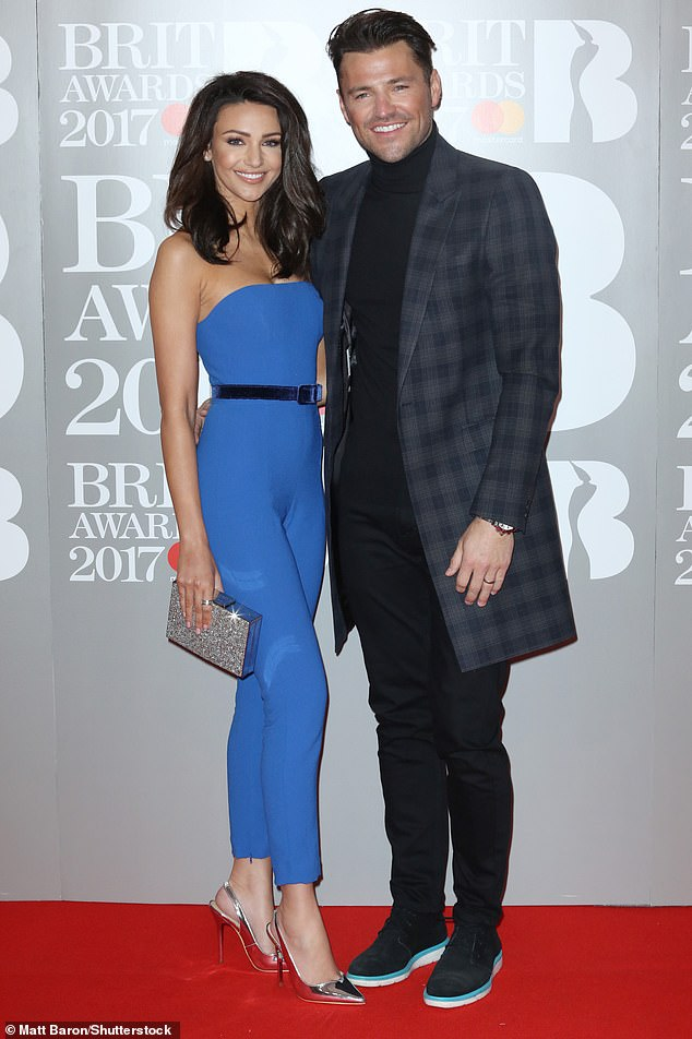 Family affair: Jess has asked brother Mark Wright's wife Michelle Keegan to be part of her bridal party (pictured 2017)