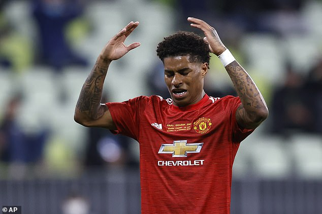 Marcus Rashford couldn't hide his frustration as Man United lost the Europa League final