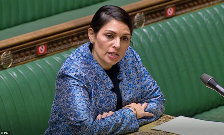 Home Secretary Priti Patel (pictured in March) has vowed to make illegal immigration across the Channel 'unviable'