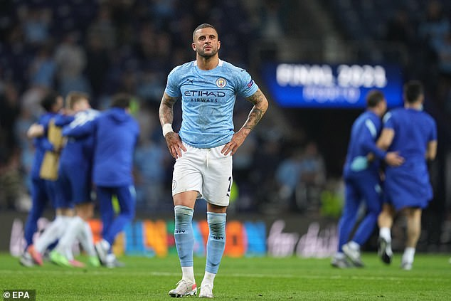 Kyle Walker's season with Manchester City ended in disappointment in Saturday night's final