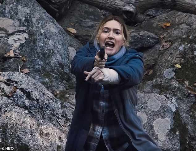 Ditch the glitz: Kate Winslet shuns any shred of Hollywood glamour in the gritty, despair-filled lead role on Mare Of Easttown